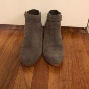 Gray size 9 booties